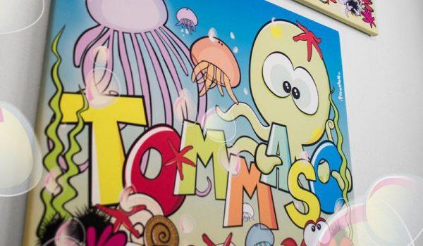 quadri-per-bambini-forestela-personalizzata