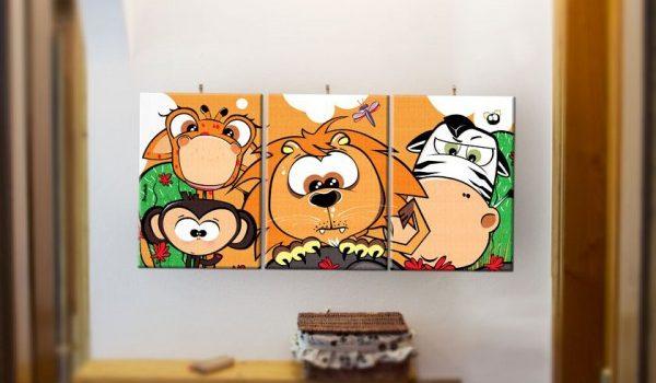 quadro-per-bambini-kit-savana