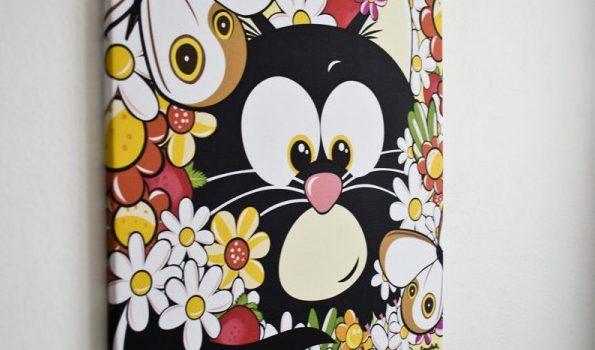 quadro-per-la-cameretta-con-il-gatto-nero